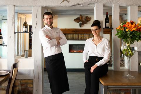 Restaurant Carpe Diem, Porträt - Sandrine Boyer Engel 120X770