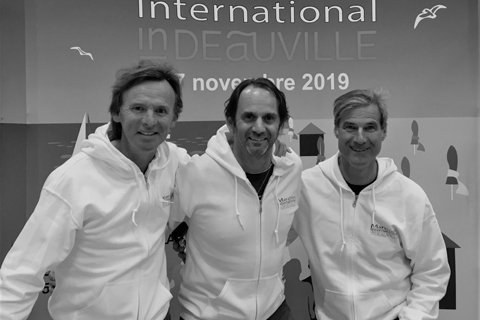 marathon in Deauville, three friends