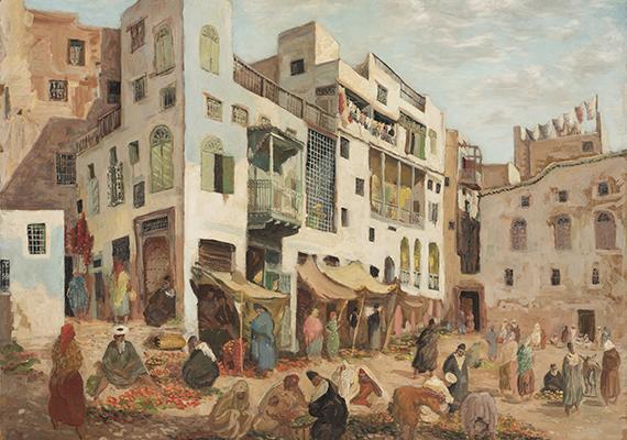 Le marché du Mellah - 1940 © André Hambourg
