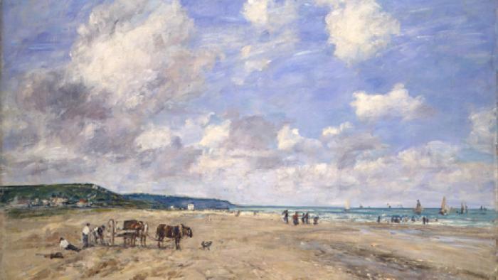 Eugène Boudin - Der Strand von Deauville