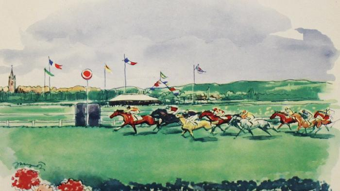 Deauville, flowered beach, Romanet collection
