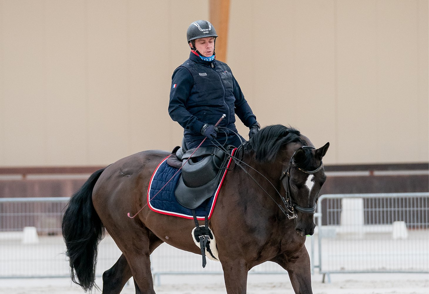 The French Paralympic Riding Team in training at the Pôle international du Cheval Longines - Deauville