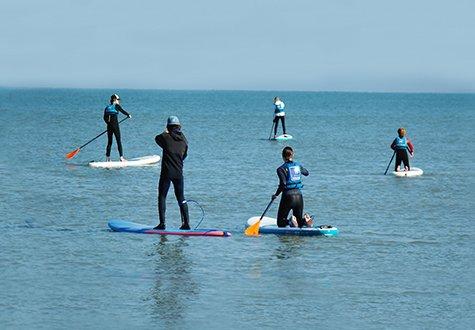 Paddle boarding in Villers-sur-Mer