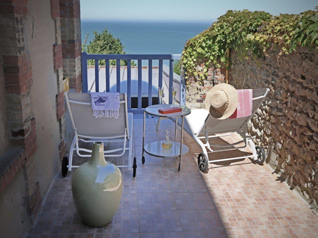 Le bellevue - terrasse de chambre - 800X600