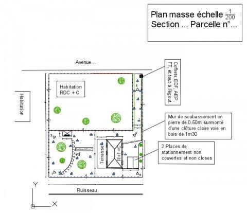 A propos des plans d 39 urbanisme site officiel de la - Plan en coupe terrain et construction ...