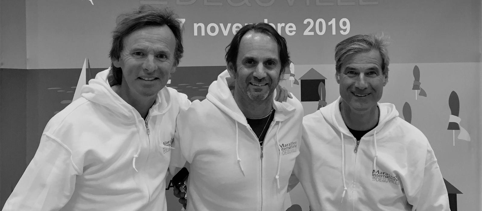 Maratón en Deauville, tres amigos.