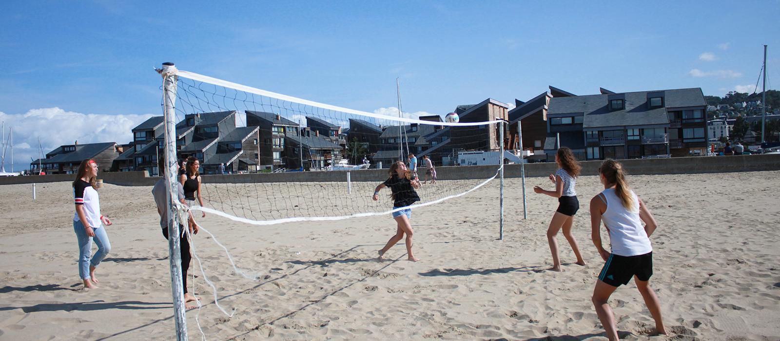 Beach volleyball on Deauville beach